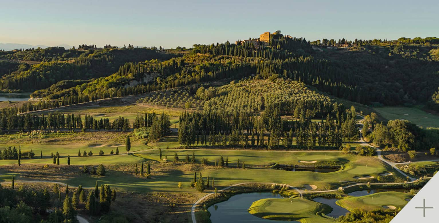Tuscany 18 holes golf course with view. Toscana Resort Castelfalfi