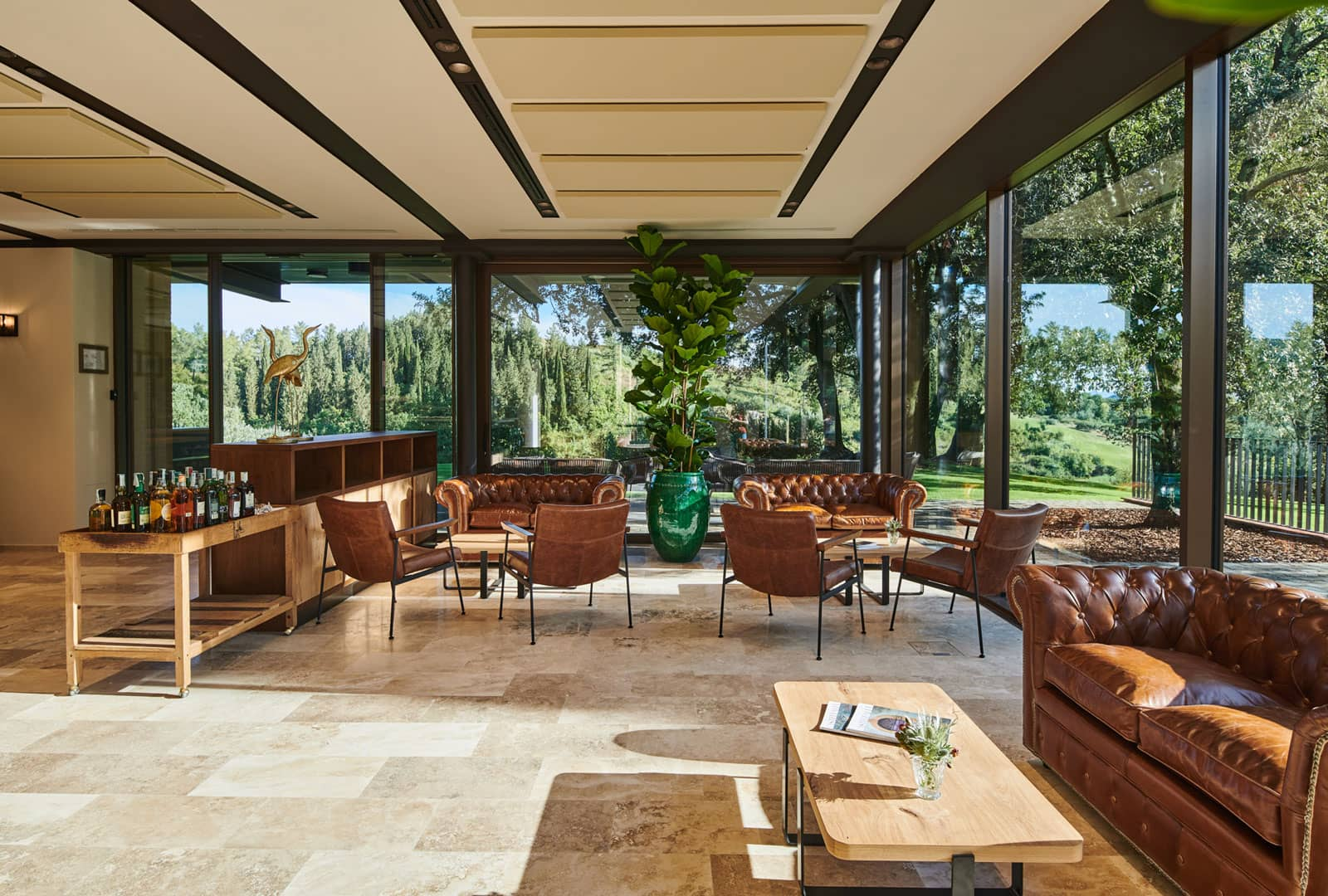 Interior view of the Country Club House, Golf Club Castelfalfi